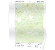 Maine USGS Historical Map King And Bartlett Lake 20110909 TM Poster