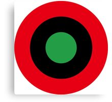 Roundel of Libyan Air Force, 1959-1969 Canvas Print