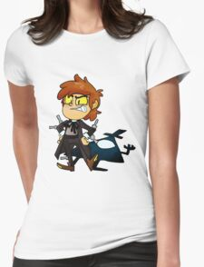 Bipper Pines Gravity Falls Womens Fitted T-Shirt