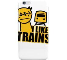 ASDF I LIKE TRAINS VIDEO MOVIE FUNNY iPhone Case/Skin