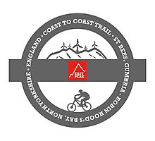 Mountain Bike T-Shirt - Coast To Coast - East Peak Apparel Photographic Print