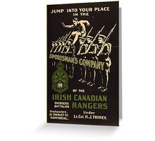 'Irish Canadian Ranger' Vintage Poster (Reproduction) Greeting Card