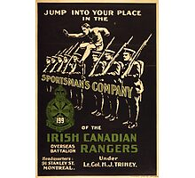 'Irish Canadian Ranger' Vintage Poster (Reproduction) Photographic Print