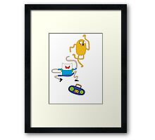 ADVENTURE TIME with Finn & Jake I'm on a Shirt. Me Too! Framed Print