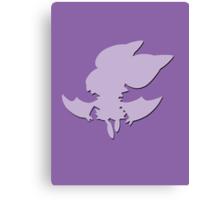 Noibat Pokémon #714 Shape (Silhouette) Canvas Print