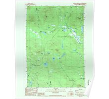 Maine USGS Historical Map King and Bartlett Mtn 807998 1989 24000 Poster