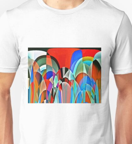 Insect view of a garden Unisex T-Shirt
