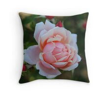 Grandmother's Rose Throw Pillow