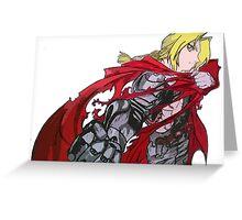 Edward Elric Full Metal Alchemist  Greeting Card