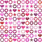 pink hearts and stars by studenna