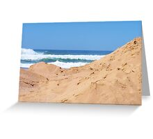 The blue & the sand dune Greeting Card