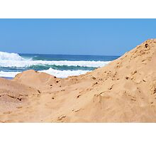 The blue & the sand dune Photographic Print