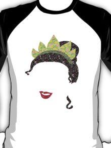 Floral Princess Tiana Silhouette T-Shirt T-Shirt