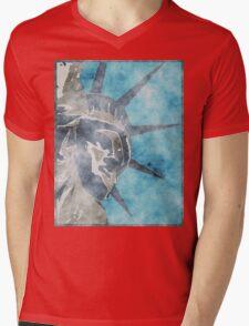 Crown of Liberty Mens V-Neck T-Shirt