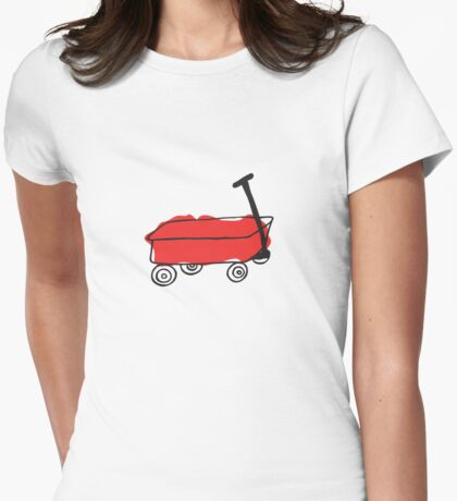 Red Wagon Womens Fitted T-Shirt