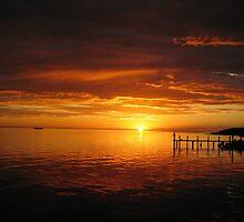 Sunset Shark Bay Western Australia - Mums Photo  by Richard  Willett