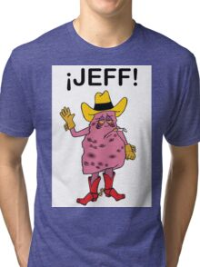 Meet Jeff the Diseased Lung! Tri-blend T-Shirt