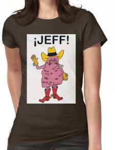 Meet Jeff the Diseased Lung! Womens Fitted T-Shirt
