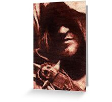 Edward Kenway Stitched look Greeting Card