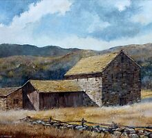 Mountain Stone Barn by JKHowsarePearl