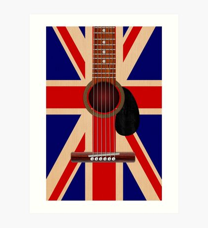 Union Jack Guitar Art Print