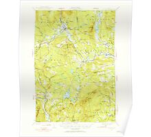Maine USGS Historical Map Kingfield 460534 1930 62500 Poster