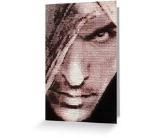 Assassin´s Creed Altair Stitched look Greeting Card