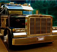 Model 359 Peterbilt Extended Hood Gold standard by Celsiusrising