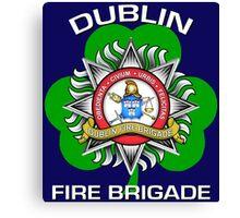 Dublin Fire Brigade w/ Shamrock Canvas Print
