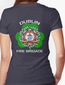 Dublin Fire Brigade w/ Shamrock Womens Fitted T-Shirt
