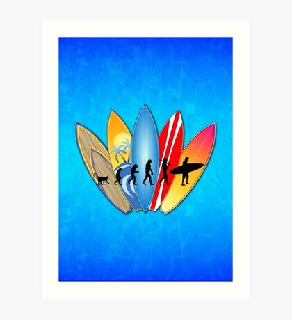 Surfing Evolution Art Print