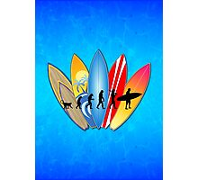 Surfing Evolution Photographic Print