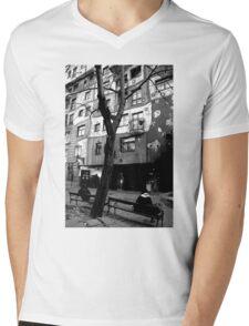 Hundertwasser Mens V-Neck T-Shirt