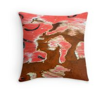Rusty Red Throw Pillow