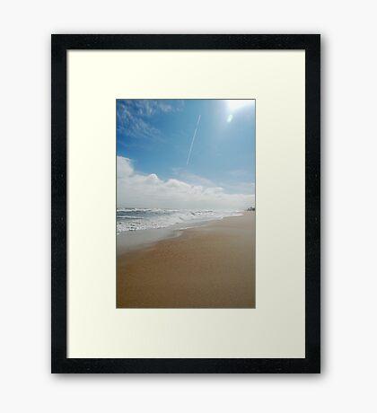 Carolina Beach NC (V) Framed Print