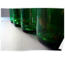 4 green bottles.... Poster