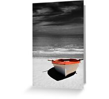 Deserted Boat. Greeting Card