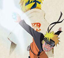 Naruto and Minato by yass-92