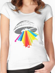 colour invaders #2 Women's Fitted Scoop T-Shirt