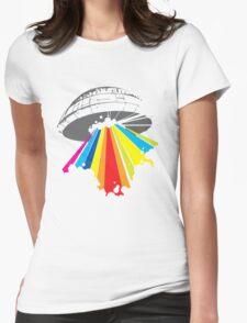 colour invaders #2 Womens Fitted T-Shirt