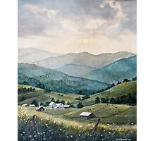 Mountain Valley Farm Photographic Print