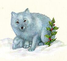arctic fox by Liesl Yvette Wilson