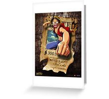 Wanted Luffy Greeting Card