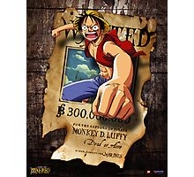 Wanted Luffy Photographic Print