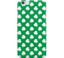 White Shamrocks On Green St. Patrick's Day Ireland iPhone Case/Skin