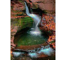 Adams Falls (detail) Photographic Print