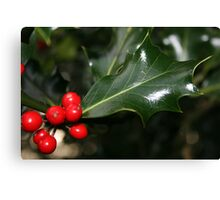 The Holly and the ... Canvas Print