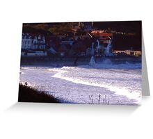 Sea Front Sandsend Greeting Card