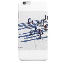 Aerial of Cross Country Skiers iPhone Case/Skin