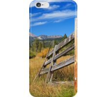 Broken Fence And Mount Lassen iPhone Case/Skin